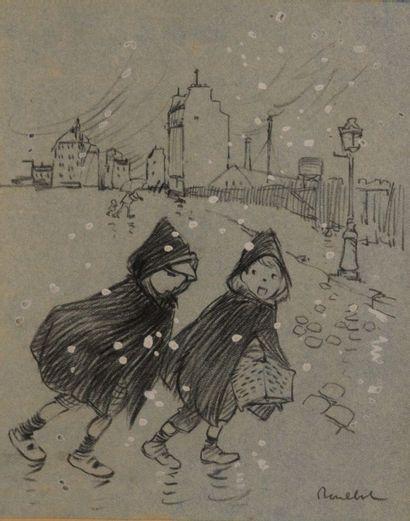 POULBOT Francisque (1879-1946) Enfants dans...