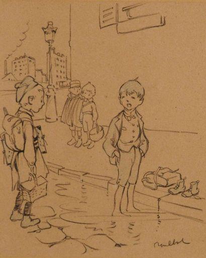POULBOT Francisque (1879-1946) Enfant aux...