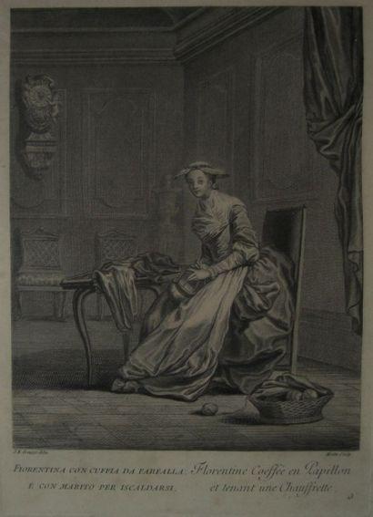 GREUZE Jean Baptiste (1725 - 1805), d'après MOITTE...