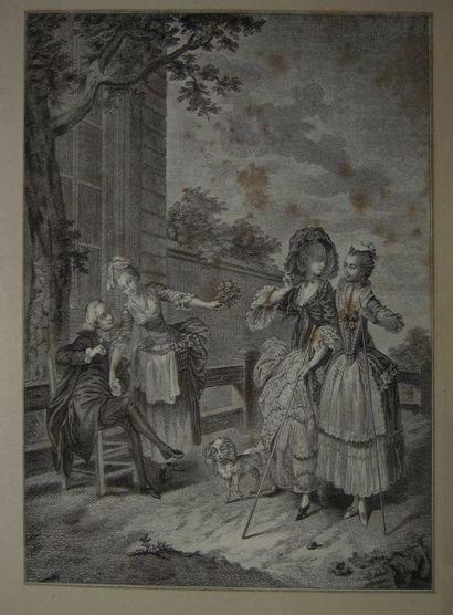 Ecole Française début du XIXème siècle Scène...