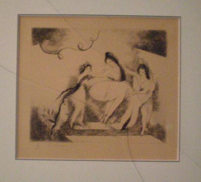 LAURENCIN Marie (1883 -1956) Trois femmes Gravure...