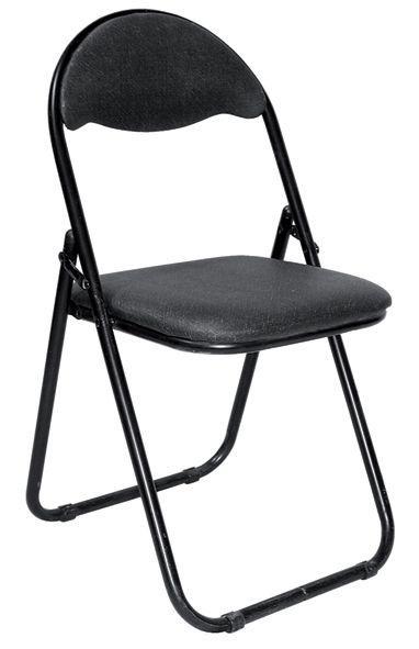 CHAISE Yang Chaise pliante noire, 39 x 37...