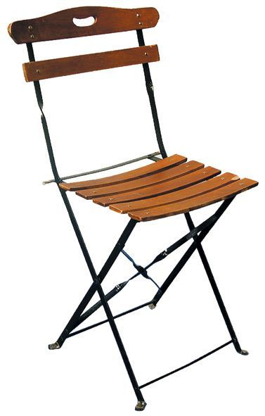 CHAISE Jardin Public bois chaise à lattes...