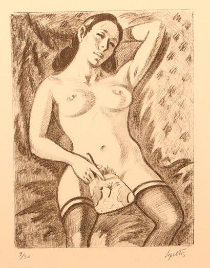 LEPELTIER Robert (1913 - 1996)  Femme lascive...