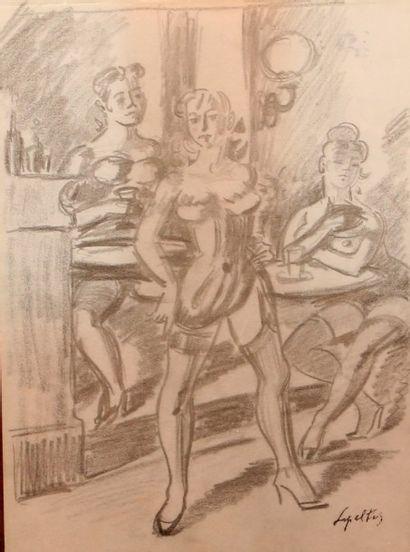 LEPELTIER Robert (1913 - 1996)  Trois femmes...