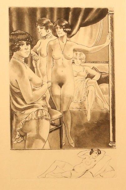 COURBOULEIX Léon (XIXème - XXème)  Femmes...