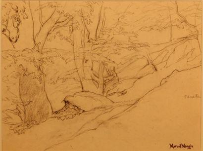MANGIN Marcel Paul Maurice (1852-1915)  Paysage...