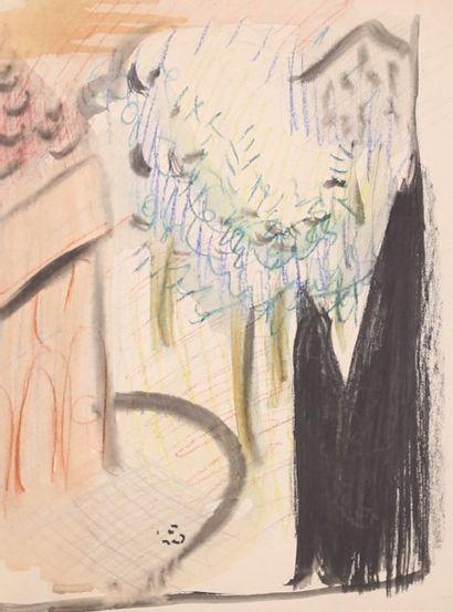 KIFFER Charles (1902-1992)  Scène de rue...