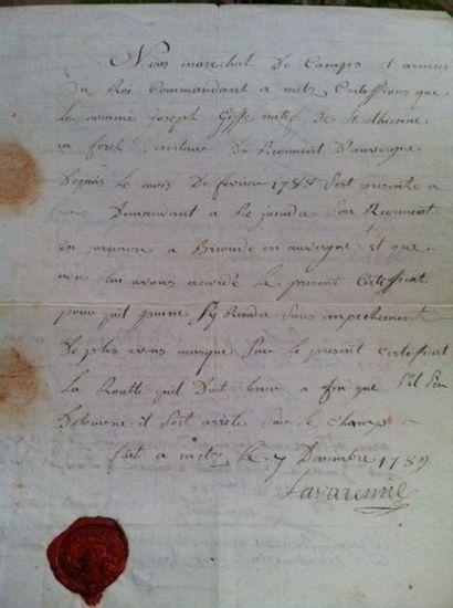 LAVARENNE Charles de Jurgy, Comte de. (1724-1805)....