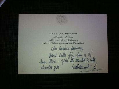 PASQUA Charles, Ministre et homme politique....