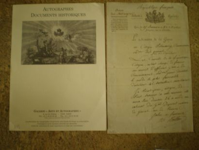 BERTHIER Alexandre, Prince de Neuchatel et...