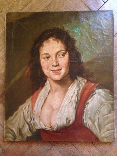La Bohémienne d'après Franz Hals Huile sur...