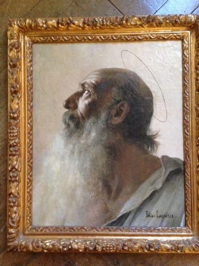 LACAILLE Félix Saint Jérôme Huile sur toile...