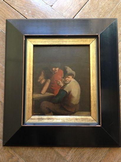 Scène de taverne dans le goût de David Teniers...