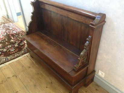 Tête de lit Louis Philippe remontée en coffre-...
