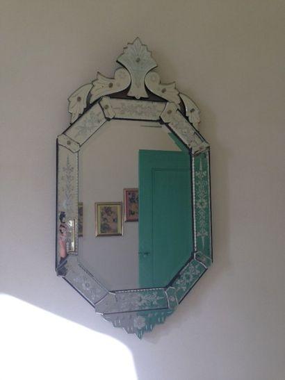 Miroir Murano, circa 1940 92 x 49,5 cm