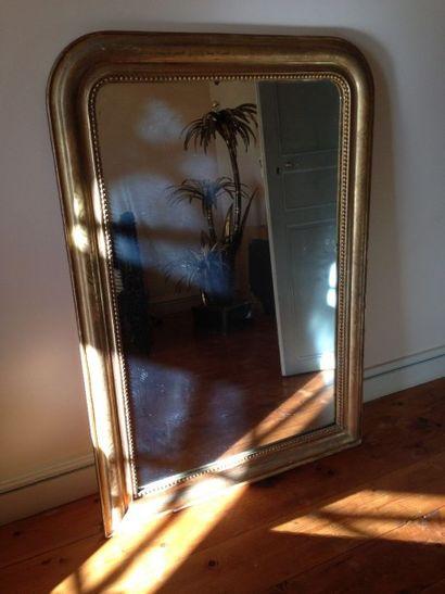 Miroir en bois doré Louis Philippe 136 x...