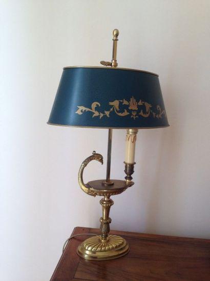 Lampe bouillote, le fût en forme de lampe...