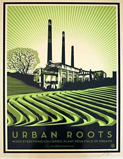SHEPARD FAIREY  Urban roots  sérigraphie...