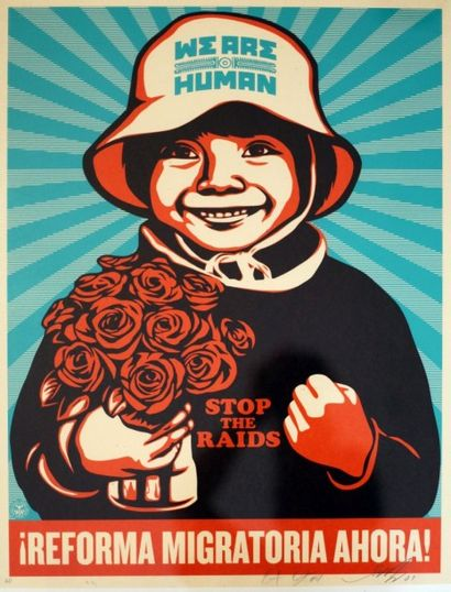 SHEPARD FAIREY  We are human  sérigraphie...
