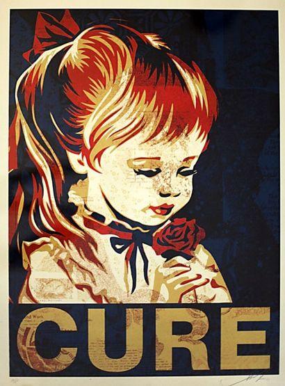 SHEPARD FAIREY  Cure  sérigraphie  Signée...
