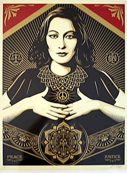 SHEPARD FAIREY  Peace and Justice woman...
