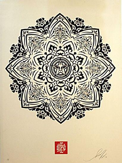 SHEPARD FAIREY  Mandola ornament  sérigraphie...