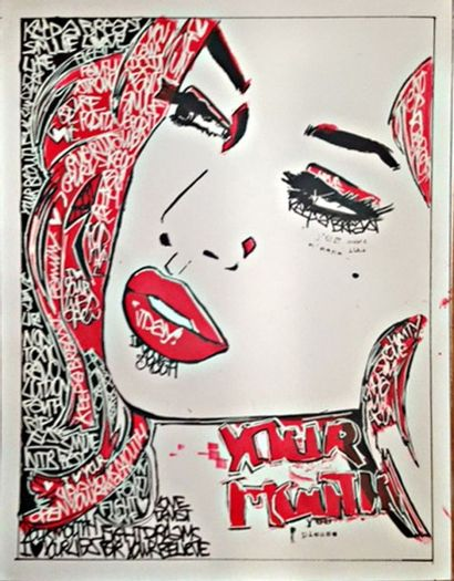 LADY JDAY Your Mouth Oeuvre originale 30.5...