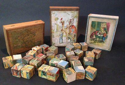 Trois petits jeux de cubes à motifs de jeux...