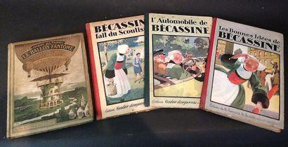 Trois livres : l'Automobile de Bécassine...