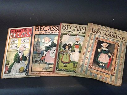 Quatre livres : Bécassine pendant la Guerre...