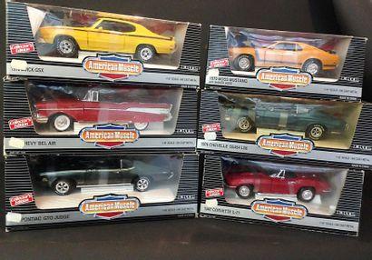 ERTL : six voitures au 1/18ème dont  Pontiac...