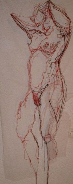 BRANSAC Emilie  Odalisque n°5  Dessin cousu-dessiné...