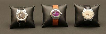 Lot composé de trois montres :  - GIGANDET...