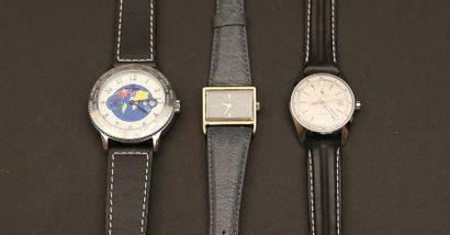 Lot composé de trois montres:  - R. Barton...