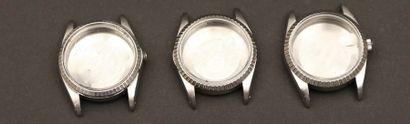 03 - Lot de trois boîtiers Oyster Rolex des...