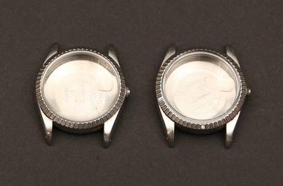 02 - Lot de deux boîtiers Oyster Rolex des...