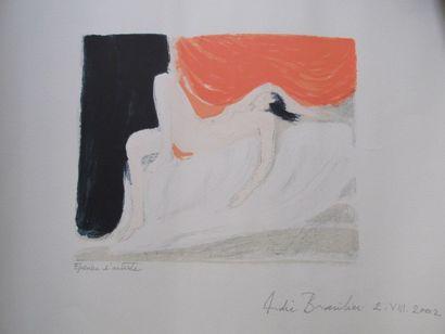 BRASILIER André (1929)  Femme allongée...