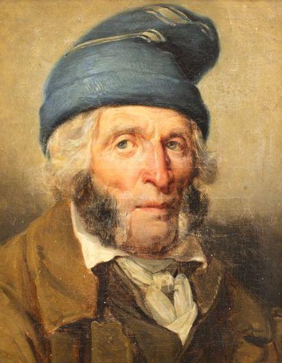 Entourage de GERICAULT  Portrait d'homme...