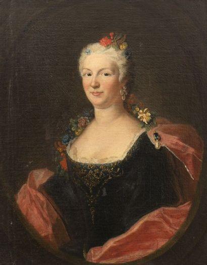 École Française vers 1730  Portrait d'une...