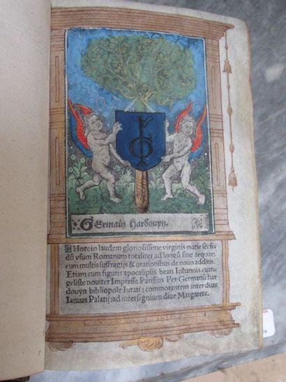 Livre d'Heures à miniatures 92 feuillets...