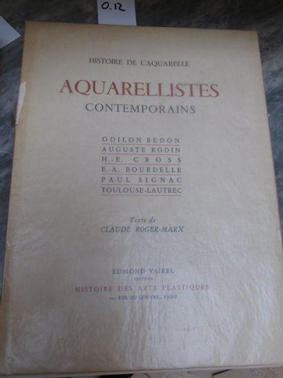 Aquarellistes contemporains - planches c...