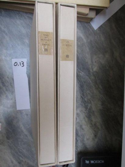 Deux volumes sur le cheval illustrés