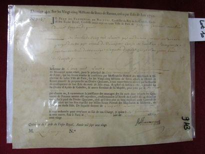 Quittance de rente signée par Jean de Turmenyes...