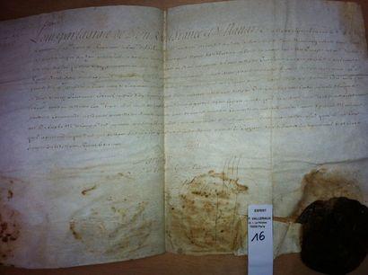 Nomination du sieur Isaac Aubert de Courcerac,...