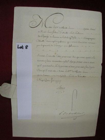 Louis XV.  Lettre signée datée du 24 juin...