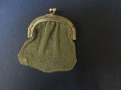Bourse en or jaune à maille tricotée, la...