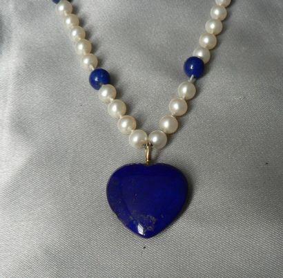 Collier de perles de culture d'eau douce,...