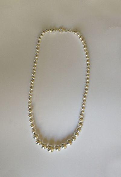 Collier dit Marseillais en perles d'argent...