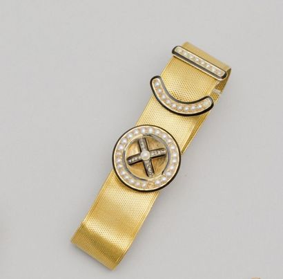 Bracelet ceinture à ruban en or jaune, à...